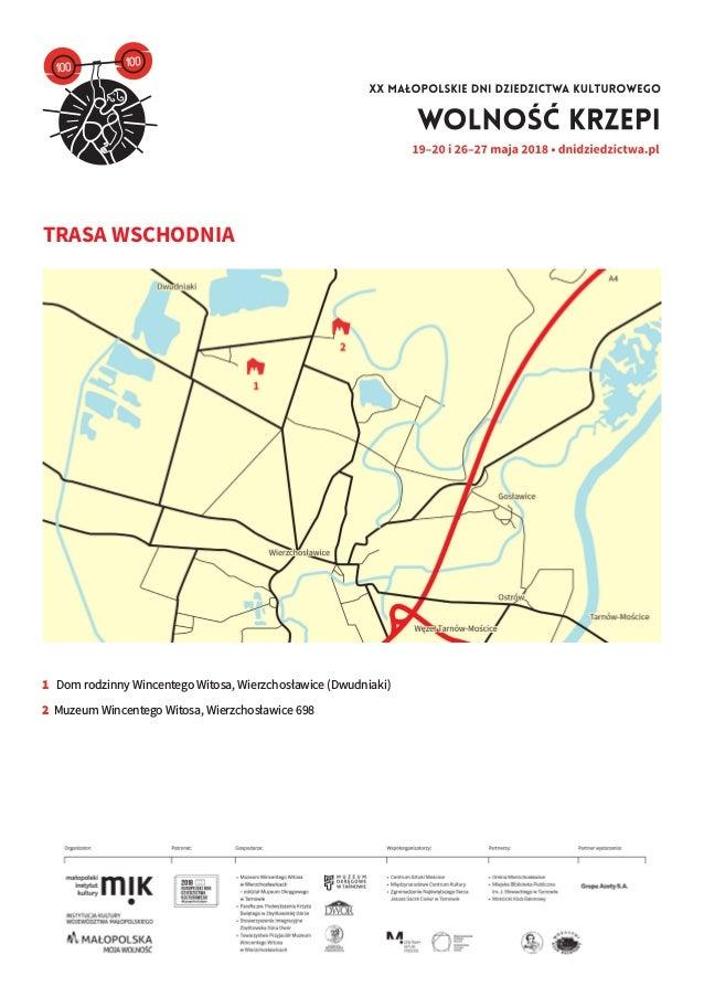 Mapa Trasy Wschodniej Xx Malopolskich Dni Dziedzictwa Kulturowego