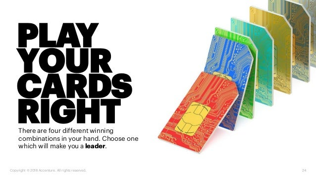 PLAY YOUR CARDS RIGHTThere are four different winning combinations in your hand. Choose one which will make you aleader. C...
