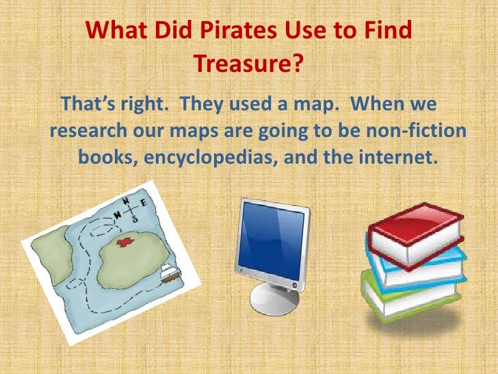 What Did Pirates Use to Find Treasure?  <br />That's right.  They used a map.  When we research our maps are going to be n...