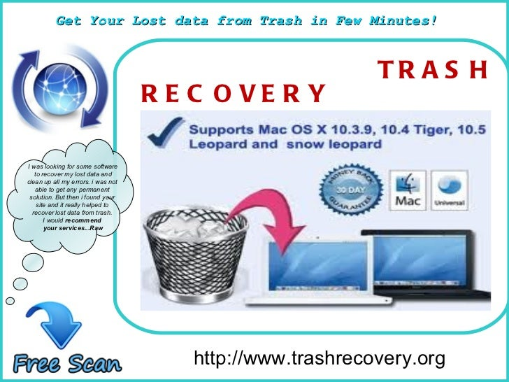 How To Remove http://www.trashrecovery.org I was looking for some software to recover my lost data and  clean up all my er...