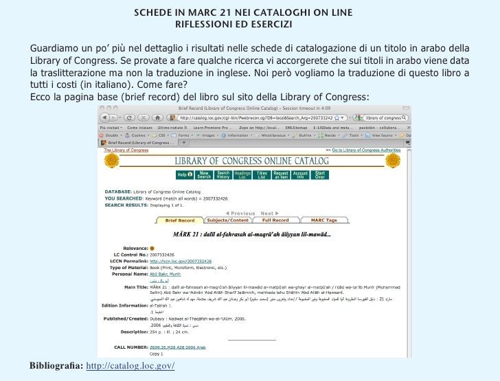 Briefe Traduzione : Abstract from quot cataloging in the era of semantic web