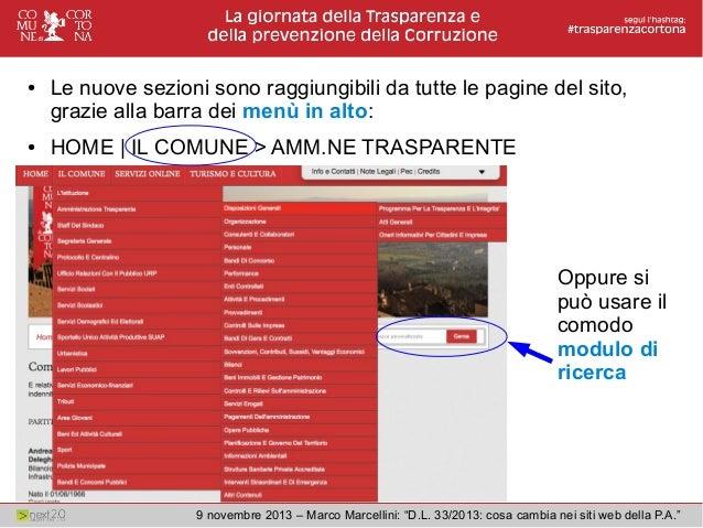 Legge 33 2013 amministrazione trasparente cosa cambia nei for Siti web della casa