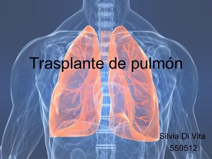 Trasplante de  pulmón Silvia Di Vita  550512