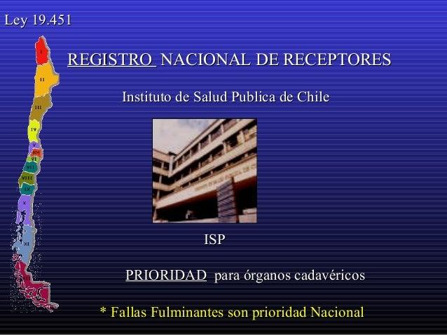Resultado de imagen para Registro Nacional de Receptores de Órganos chile