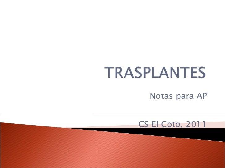 Notas para AP CS El Coto, 2011