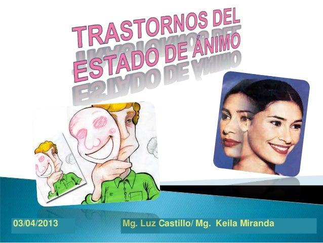 03/04/2013   Mg. Luz Castillo/ Mg. Keila Miranda