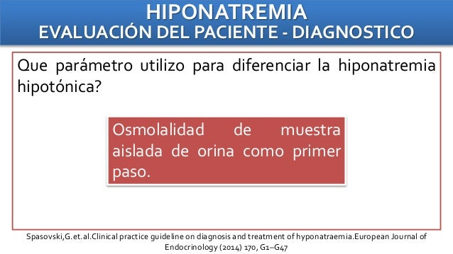 european journal of endocrinology hyponatremia guidelines
