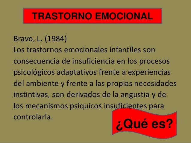 Trastorno Emocionales en el Niño