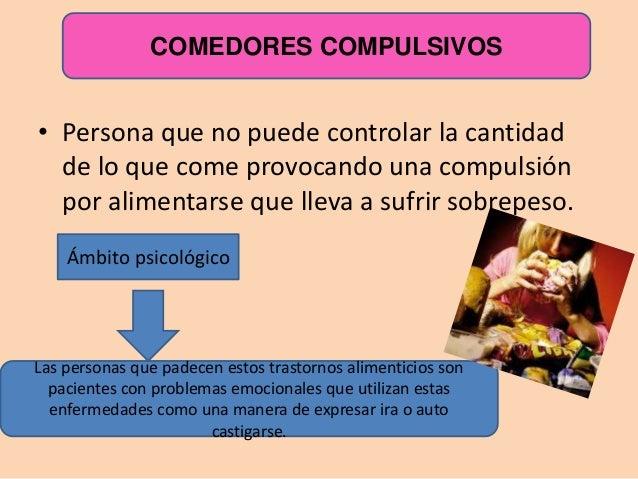 Trastornos alimenticios for Comedor compulsivo