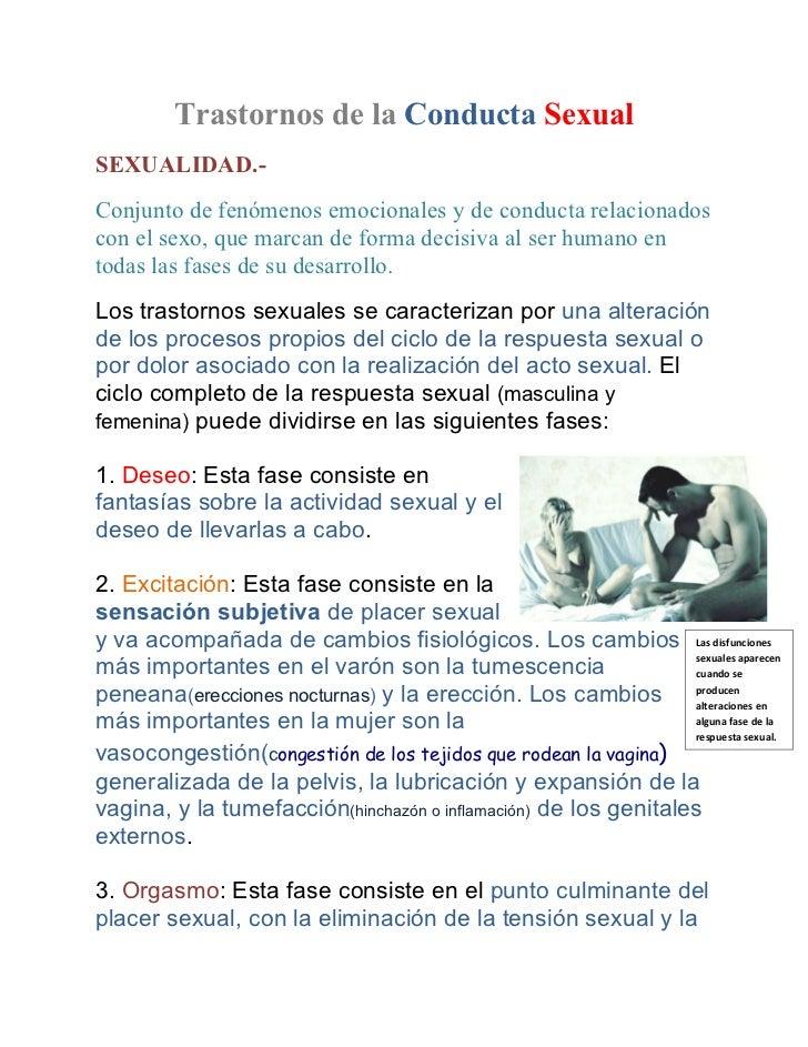 Trastornos de la Conducta SexualSEXUALIDAD.-Conjunto de fenómenos emocionales y de conducta relacionadoscon el sexo, que m...