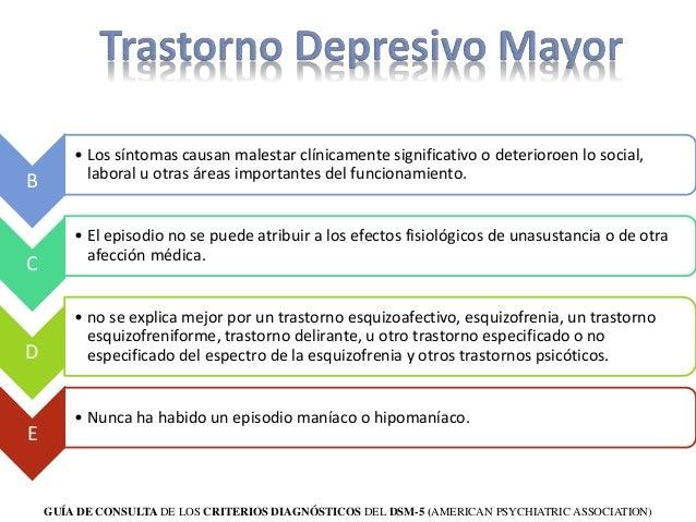 Trastorno Bipolar y Depresivo según DSM V