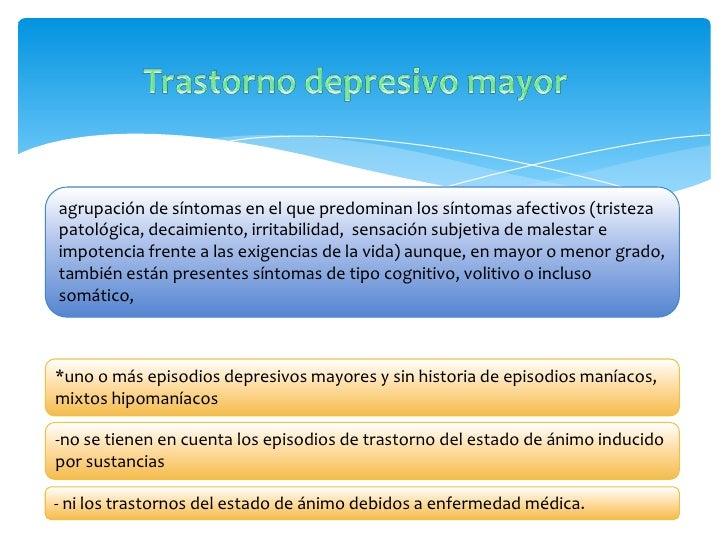 La experiencia depresiva puede expresarse mediante: -quejas de «nervios» y cefaleas (en las culturas latina). -debilidad...