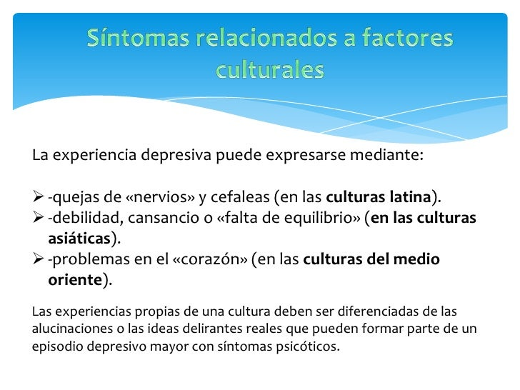 CaracteristicasSegún el DSM-IV, las características principales: los sentimientosde inadecuación, culpa, irritabilidad e i...