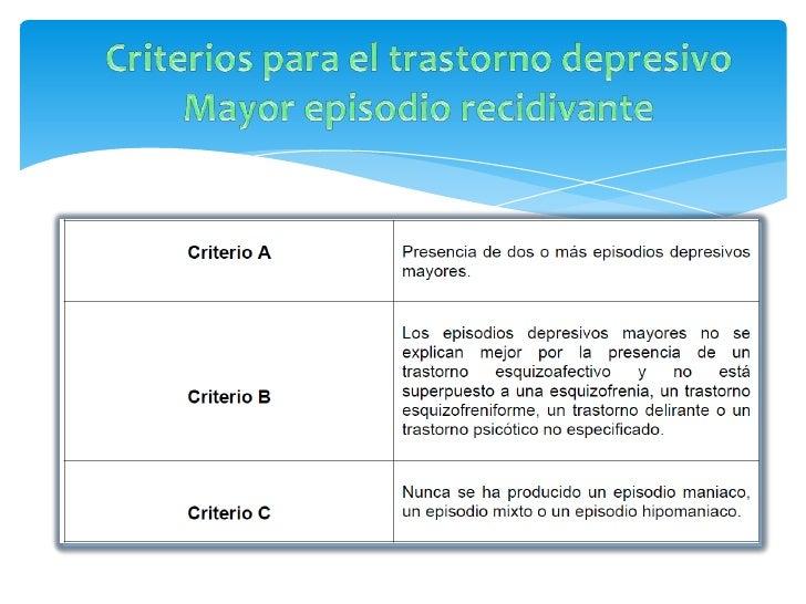 Criterio A                          CriteriosLa característica esencial del trastorno distímico es un estadode ánimo cróni...
