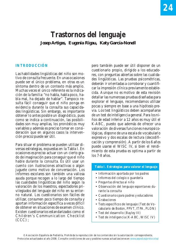 24                              Trastornos del lenguaje                     Josep Artigas, Eugenia Rigau, Katy García-None...