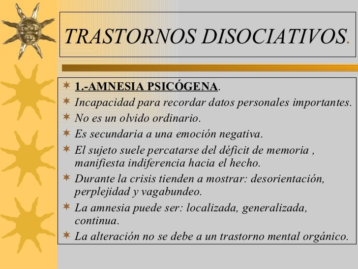 Trastornos disociativos Slide 3