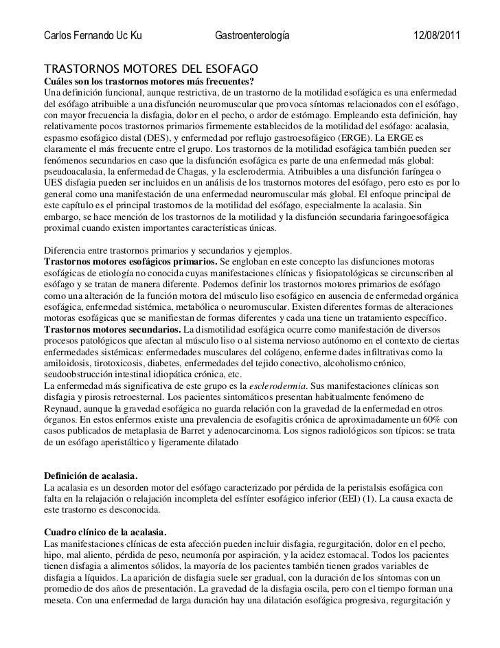 Carlos Fernando Uc Ku                        Gastroenterología                                   12/08/2011TRASTORNOS MOTO...