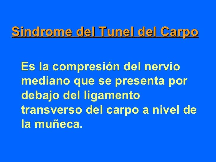 Nervio Mediano• Fibras motoras para oponente  pulgar• Abductor corto del pulgar• Lumbricales 1ro y 2do• Sensibilidad para ...