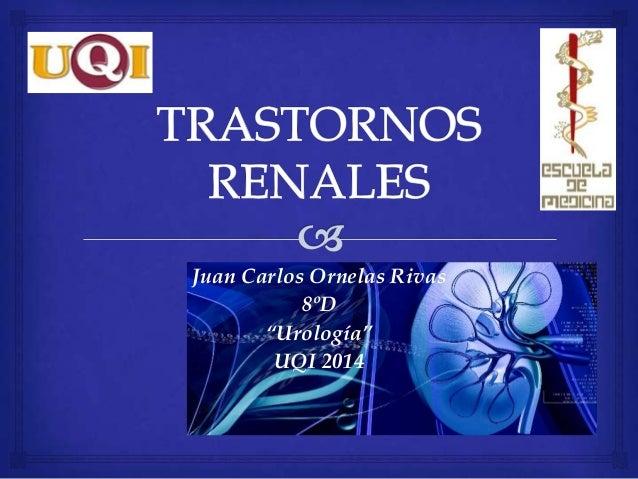 "Juan Carlos Ornelas Rivas 8ºD ""Urología"" UQI 2014"
