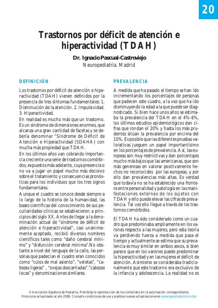 20             Trastornos por déficit de atención e                  hiperactividad (TDAH)                                ...