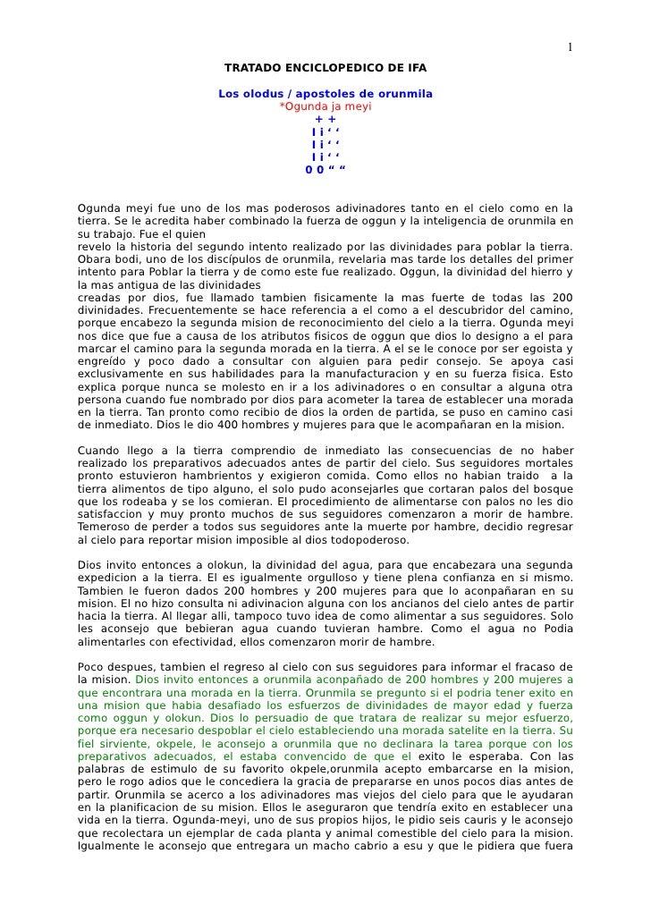 1                           TRATADO ENCICLOPEDICO DE IFA                          Los olodus / apostoles de orunmila      ...