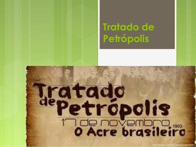 Tratado de Petrópolis