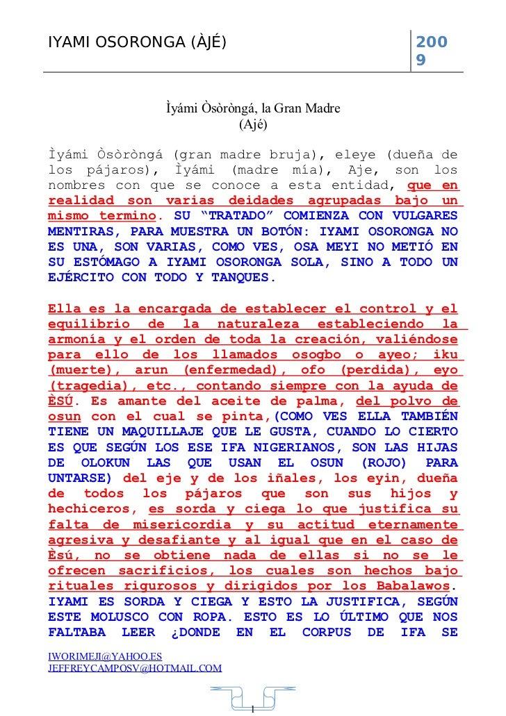 Tratado Fraudulento De Iyami Osoronga De Jeffrey Campos Slide 2