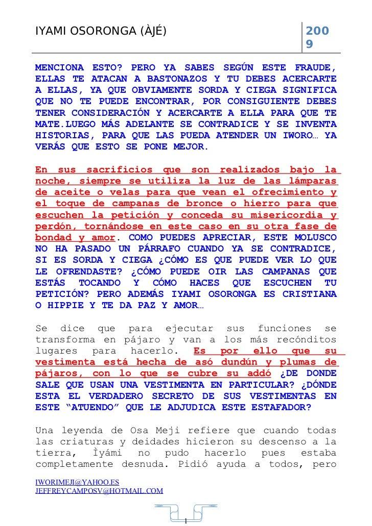 Tratado Fraudulento De Iyami Osoronga De Jeffrey Campos Slide 3