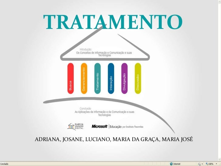 TRATAMENTO<br />ADRIANA, JOSANE, LUCIANO, MARIA DA GRAÇA, MARIA JOSÉ<br />