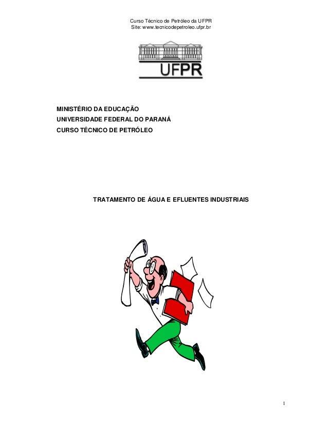 Curso Técnico de Petróleo da UFPR Site: www.tecnicodepetroleo.ufpr.br 1 MINISTÉRIO DA EDUCAÇÃO UNIVERSIDADE FEDERAL DO PAR...