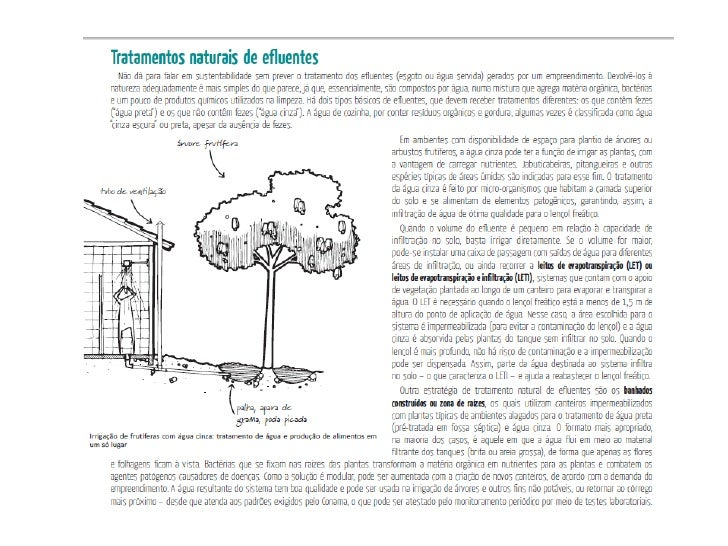 Tratamento natural de esgoto - Manual santander