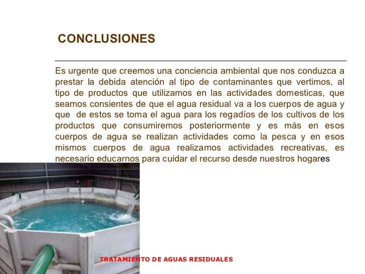 Tratamiento de agua residuales - Tratamiento del agua ...