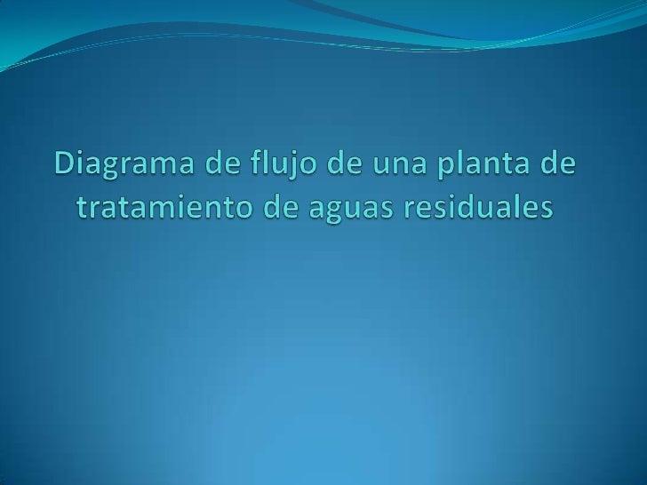 Diagrama de flujo de una planta de tratamiento de aguas residuales <br />