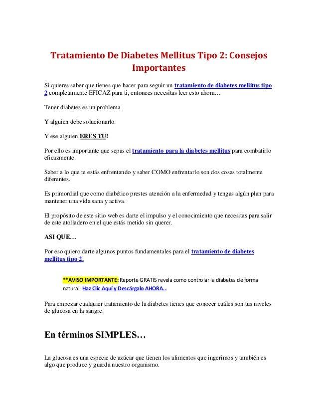 Tratamiento De Diabetes Mellitus Tipo 2: Consejos Importantes Si quieres saber que tienes que hacer para seguir un tratami...