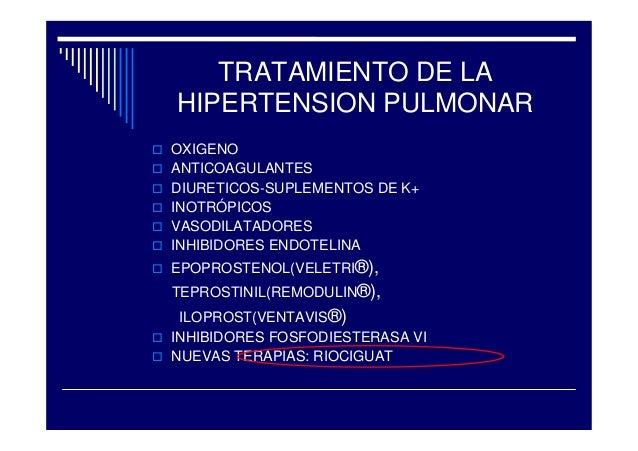 Tratamiento de hipertensión pulmonar tromboembolica..
