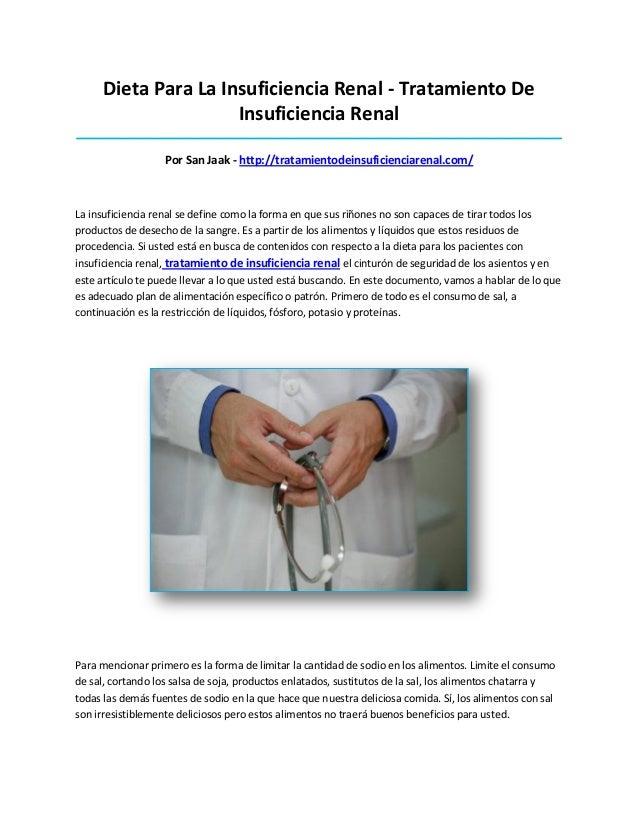 Dieta Para La Insuficiencia Renal - Tratamiento DeInsuficiencia Renal_____________________________________________________...