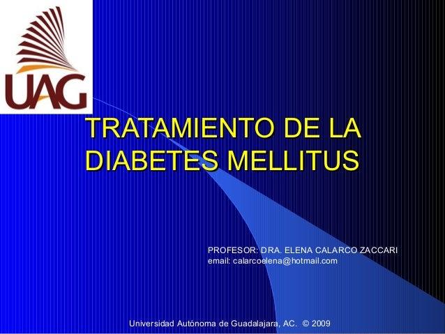 Tratamiento de la diabetes mellitus