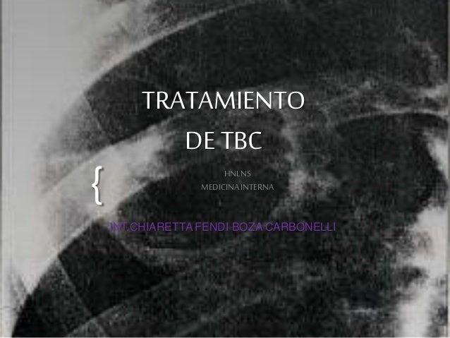 {  TRATAMIENTO  DE TBC  HNLNS  MEDICINA INTERNA  INT.CHIARETTA FENDI BOZA CARBONELLI