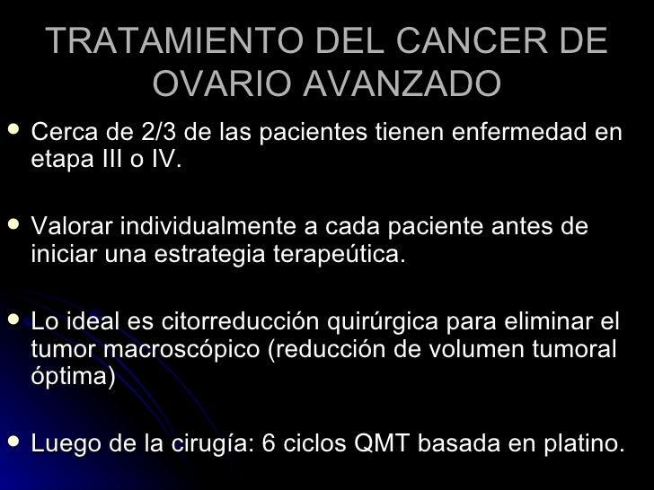 Tratamiento del cancer de ovario - Tratamiento para carcoma ...