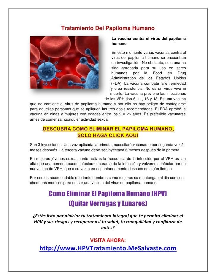 Tratamiento Del Papiloma Humano                                               La vacuna contra el virus del papiloma      ...