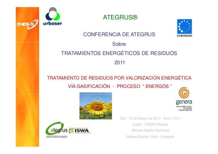 ATEGRUS®               CONFERENCIA DE ATEGRUS                       Sobre                       S b     TRATAMIENTOS ENERG...