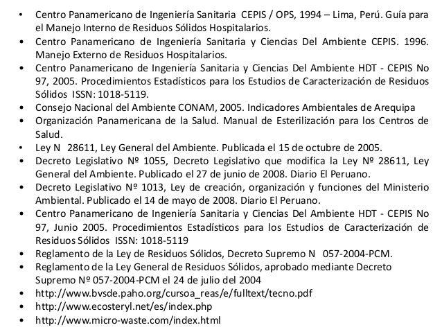 TRATAMIENTO DE RESIDUOS SOLIDOS HOSPITALARIOS. ABI-UNSA