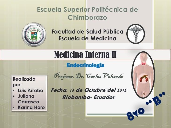 Escuela Superior Politécnica de                  Chimborazo                Facultad de Salud Pública                  Escu...