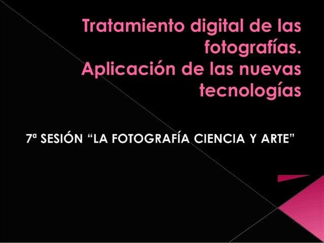 Tratamiento digital de las fotografías