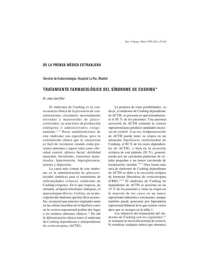 Rev Cubana Med 1999;38(1):35-66     DE LA PRENSA MÉDICA EXTRANJERA   Servicio de Endocrinología. Hospital La Paz, Madrid  ...