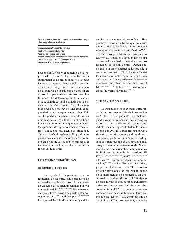 Tratamiento farmacologico del sindrome de cushing