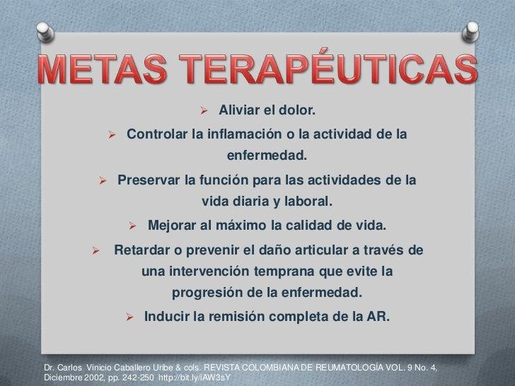 Tratamiento Farmacologico Y No Farmacologico De La Artritis