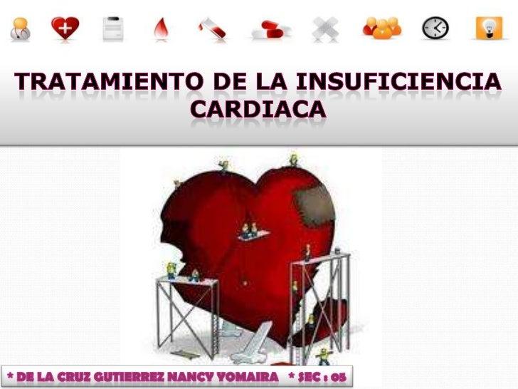 I. Hacer desaparecer la causa cuando sea posiblea) Sobrecargas hemodinámicasb) Miocarditisc) Isquemia miocárdicaII. Mejora...