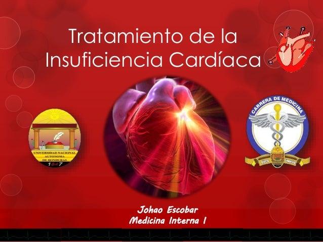 Tratamiento de la Insuficiencia Cardíaca Johao Escobar Medicina Interna I