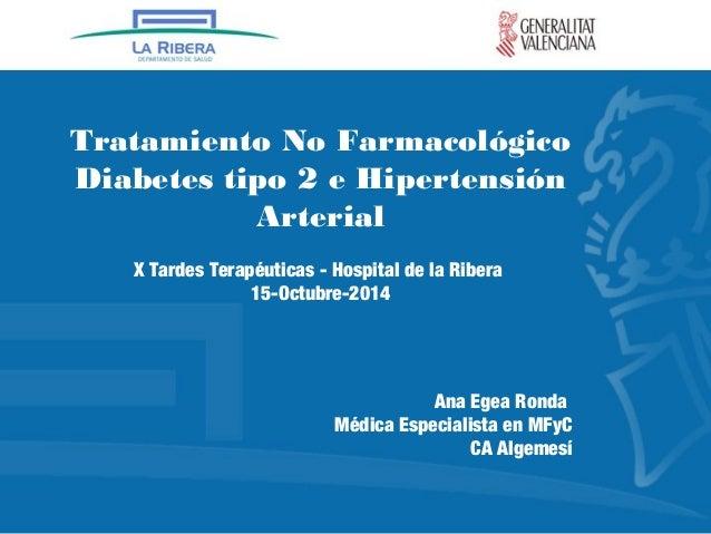 Tratamiento no farmacológico de la diabetes mellitus tipo
